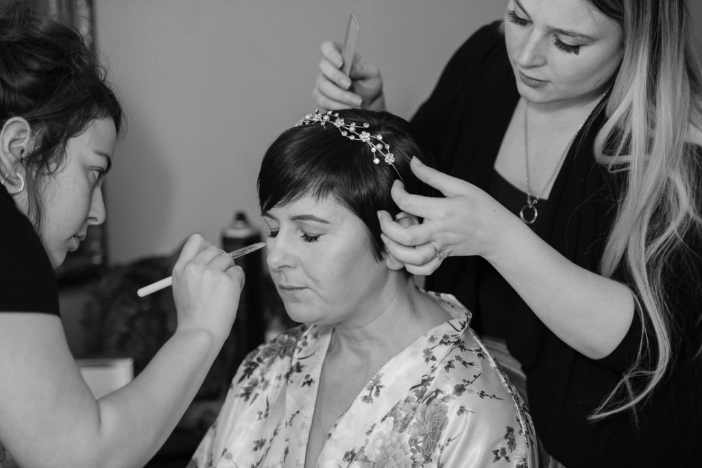 Bridal preparations at Redcoats