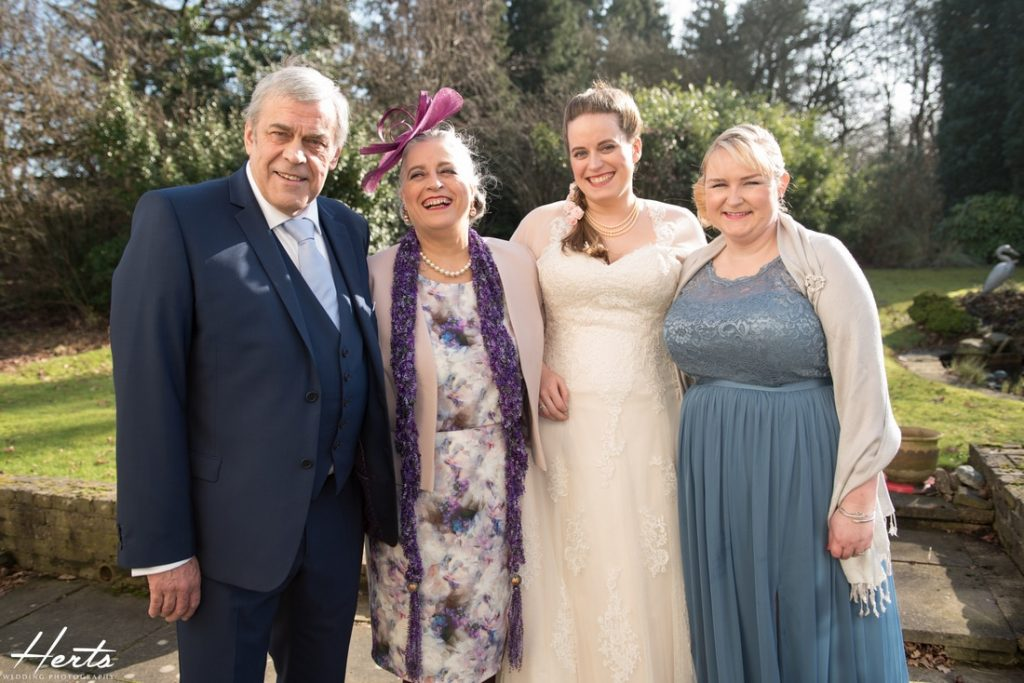A family photo before leaving for the registry office