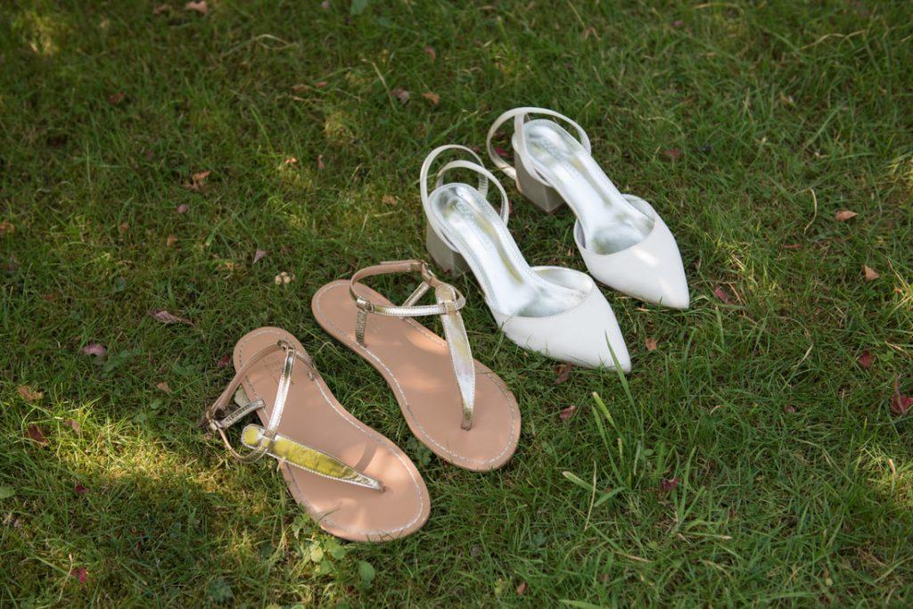 Wedding shoes and bridal flip-flops