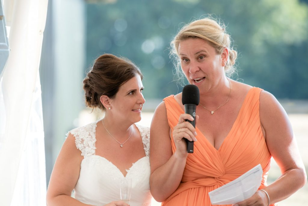 Another speech by the bride