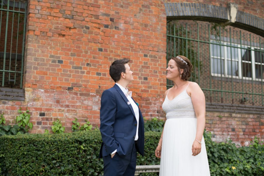 Two gorgeous brides at St Albans Registry Office