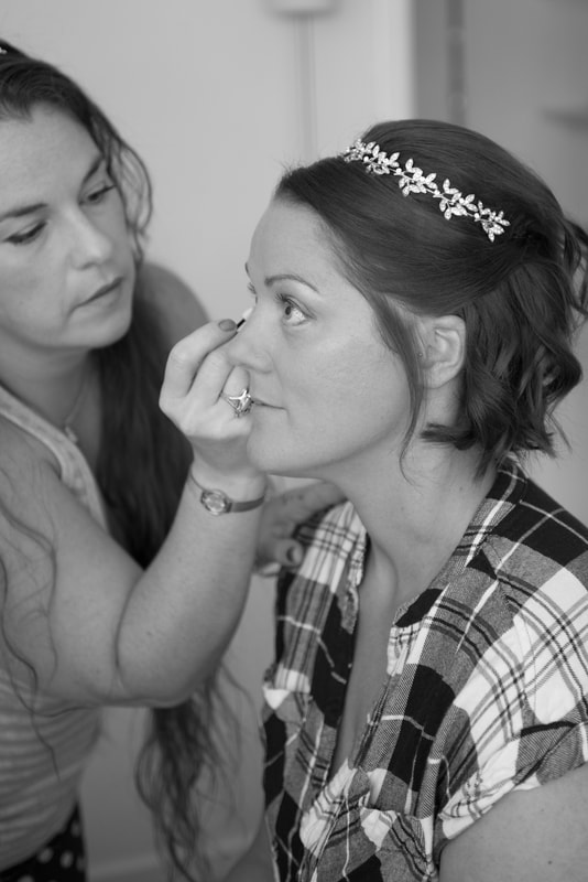 Bridal preparations in Hertfordshire