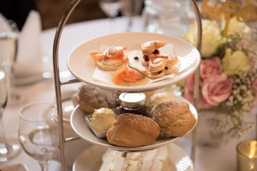 A selection of delightful food for the wedding breakfast