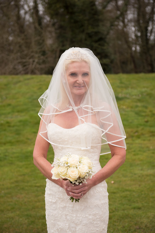 The bride looking stunning before the wedding ceremony