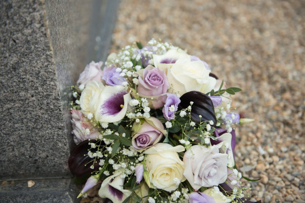 The bridal bouquet of flowers