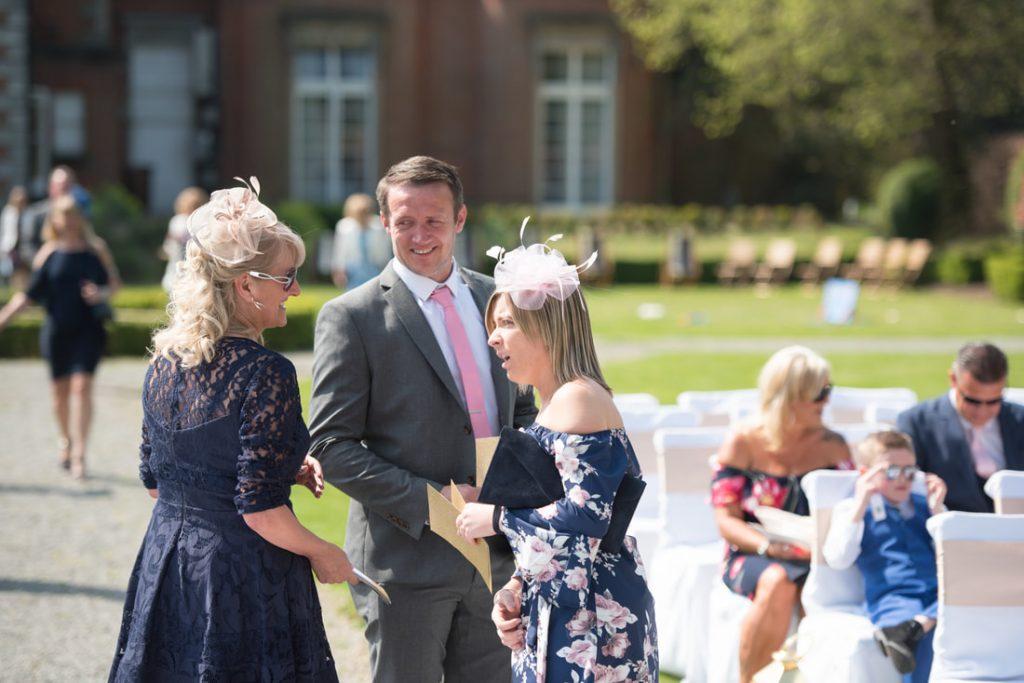 Wedding guests arrive at theobalds estate