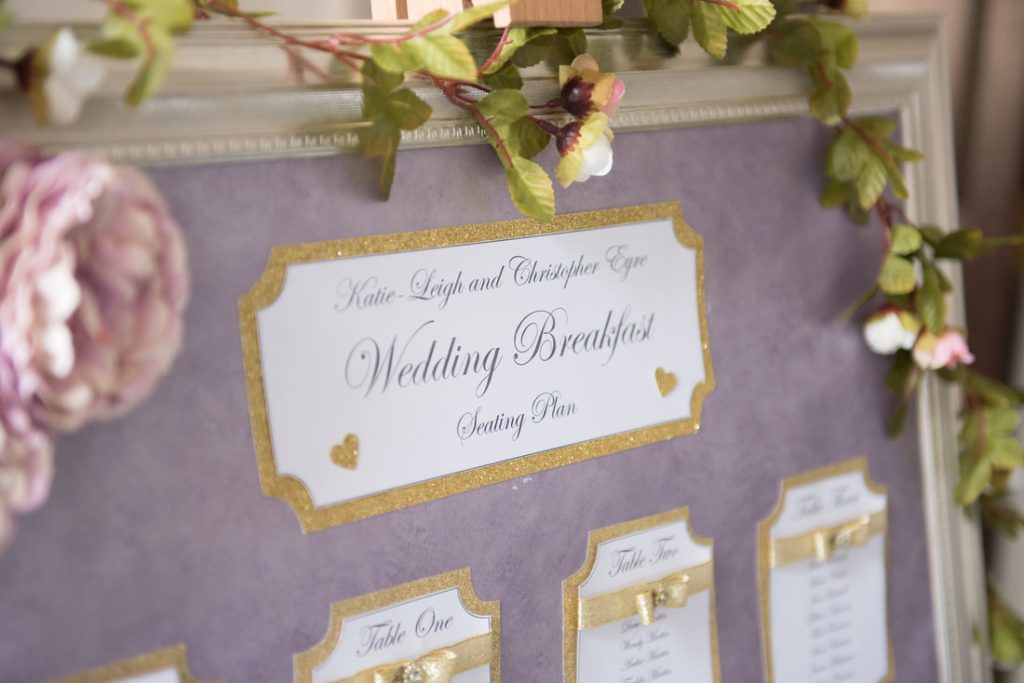 A gorgeous handmade table plan