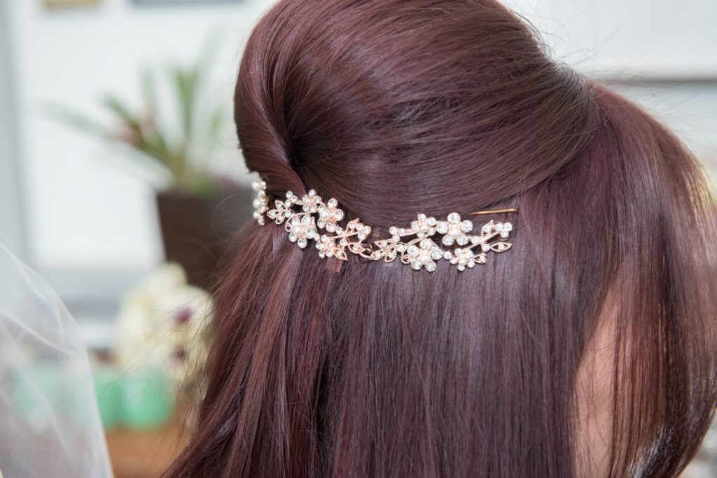 A beautiful silver hairpiece