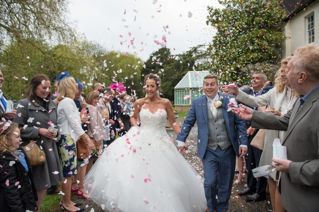 Confetti shot at Ware Priory