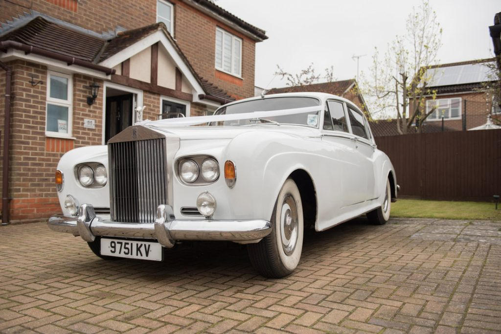 The Rolls Royce wedding car arrived at their house in Stevenage
