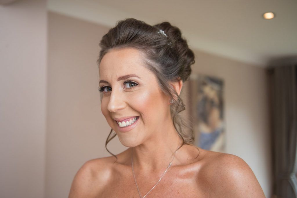 A photo of the bride looking stunning