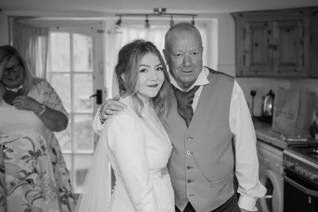 Daughter and father of the bride
