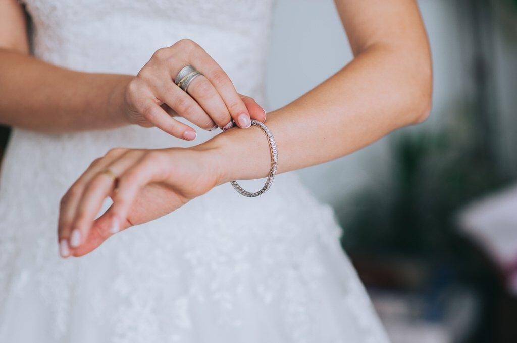 bracelet on bride