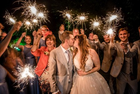 Wedding Photography with Sparklers