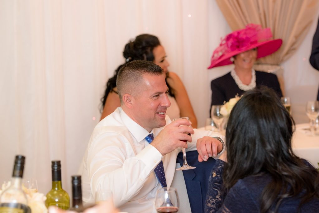 Guests enjoy the speech at ware priory