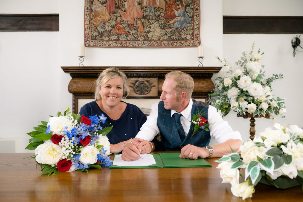 The signing of the wedding register