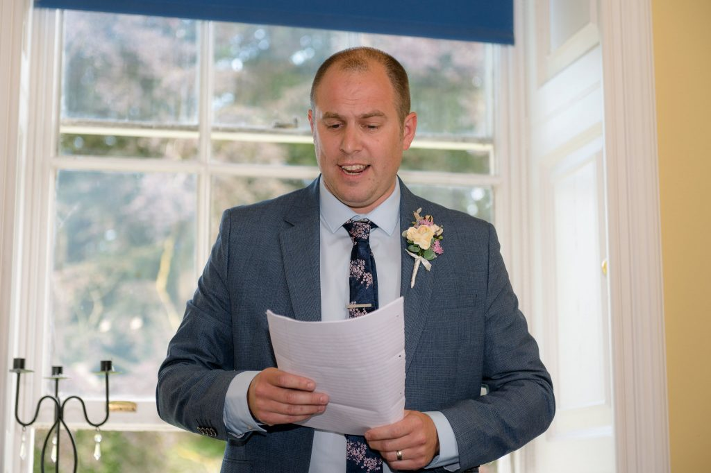 the grooms brother delivers his speech